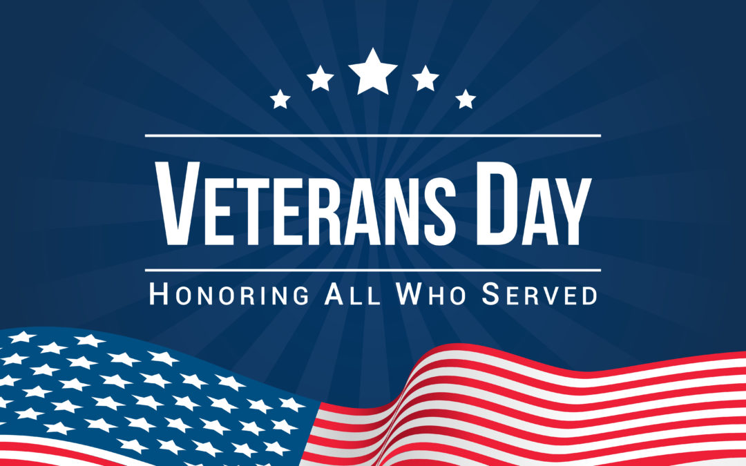 Veterans Day is Monday, November 11