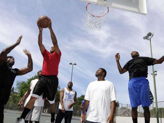Basketball in Washington Park