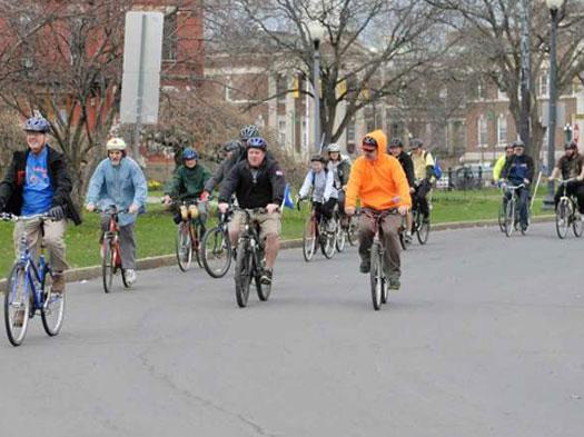 Biking in Washington Park