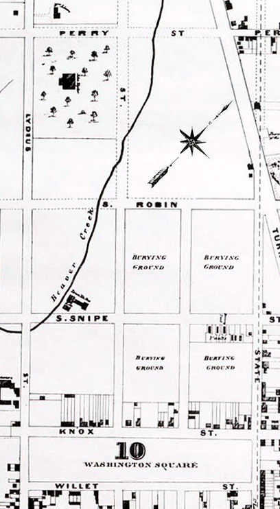 1857 Cropped Map - Washington Park